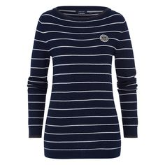 Jumper Abeille  Soft jumper made of a high-quality cotton and wool blend. The striped design and fine, shiny Lurex stripes make it the perfect companion on cold winter days.