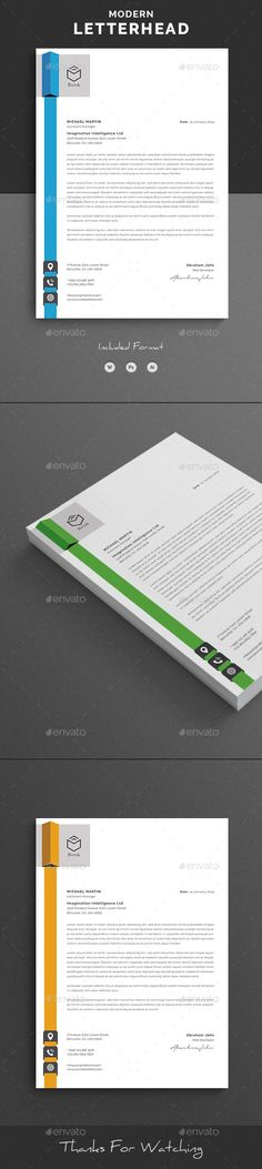 Buy Letterhead Word by telaarte on GraphicRiver. Letterhead Word Template with super modern and Corporate look. Corporate Letterhead page designs are very easy to use. Letterhead Design, Letterhead Template, A4 Paper, Paper Size, Change Image, Page Design, Photoshop, Make It Yourself, Ms