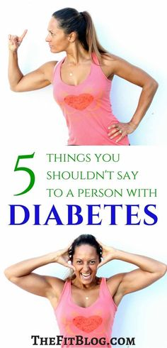 A funny but true list of things you should NEVER say to a person with diabetes about food. via