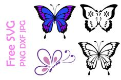 Free Butterfly SVG Files for Cricut - Bing images Heart Template, Butterfly Template, Butterfly Pattern, Butterfly Stencil, Crown Template, Flower Template, Butterfly Art, Free Svg Cut Files, Svg Files For Cricut