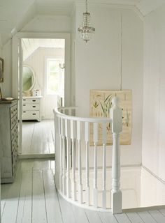 .love the painted floors and curved railing