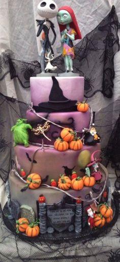 Bad Ass Wedding Cakes #InkedMagazine #NBC #NightmareBeforeChristmas #cake #weddingcake #food