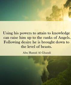 Saying of Imam Ghazali
