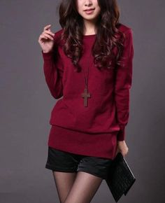 Women Ladies Slim Round Collar Long Sleeve Knit Pullover Cardigan Tops Sweater