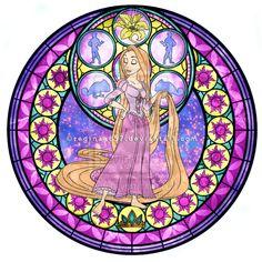 Princess Rapunzel - Kingdom Hearts Stain Glass by reginaac57.deviantart.com on @deviantART