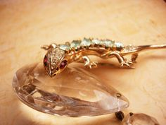 1946 Vintage signed sterling Coro Lizard Brooch by vintagesparkles, $295.00
