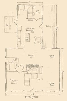 1000 Images About Floor Plan Colonial On Pinterest