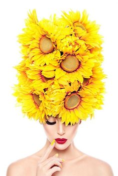 Mellow Yellow - or - Bellow Yellow? Flower Hats, Arte Floral, Shades Of Yellow, Colour Yellow, Happy Colors, Mellow Yellow, Fascinators, Headpieces, Beauty Photography