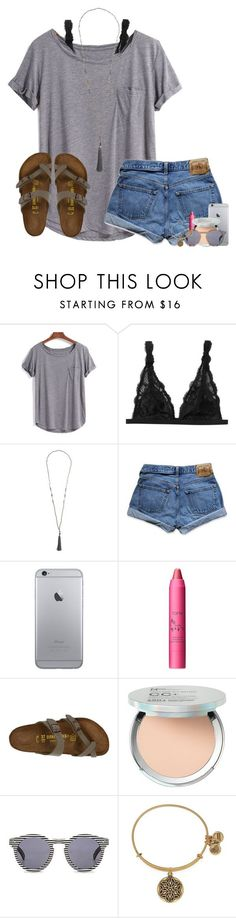 """shoutout in the description"" by lydia-hh ❤ liked on Polyvore featuring Monki, Abercrombie & Fitch, tarte, Birkenstock, It Cosmetics, Illesteva and Alex and Ani"