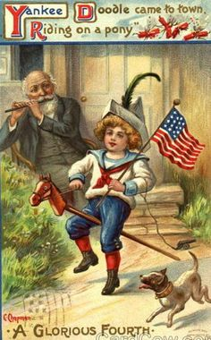 *Yankee Doodle Came To Town Riding On A Pony...Cyrus Durand Chapman (1856-1918)