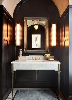 """If you can't be adventurous in a powder room, where can you be adventurous?"" says Brian Gluckstein. 