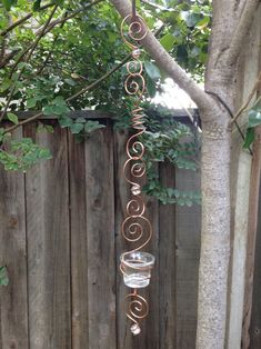 Copper Wire Crafts, Copper Wire Art, Hanging Wedding Decorations, Handmade Decorations, Carillons Diy, Diy Wind Chimes, Light Chain, Votive Holder, Party Lights