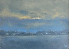ARTFINDER: Nocturne: Cloud Cover by Dan Wellington - No.3 of three nocturnes capturing the glow of the lights across a rural setting. Capturing how the colours and moods change as the light levels fade. High qu...