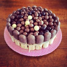 The cake bowl! Coffee and walnut cake with Boudoir biscuits dipped in chocolate, and Woolworths Chuckles. Coffee And Walnut Cake, Tiramisu, Biscuits, Dips, Chocolate, Baking, 1 Year, Ethnic Recipes, Boudoir
