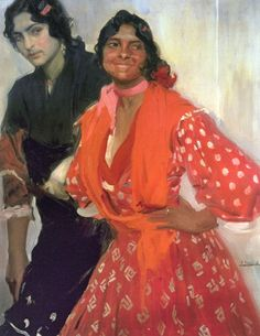 "Joaquin Sorolla ""Two Gypsy Women"", 1913 (Spain, Impressionism, 20th cent.)"