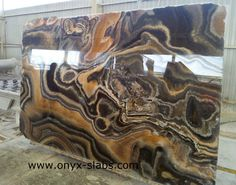 onyx slabs for sale Blue Granite Countertops, Granite Slab, Granite Kitchen, Kitchen Countertops, Stone Feature Wall, Marble Interior, House Gate Design, Beautiful Houses Interior, Stone Slab