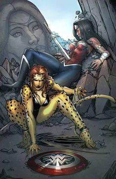 Cheetah et Wonder Woman