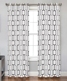 Love this Charcoal Berlin Window Panel on #zulily! #zulilyfinds