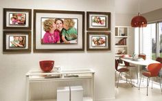Tips on hanging family portraits in the home - do not hang photographs of family members in the following places: facing the toilet door, directly facing the front door, facing a staircase, in the basement and directly under a toilet on the floor above. Lillian.too.com