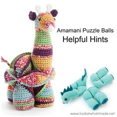 Amamani Puzzle Balls: Dedri provides helpful hints with clear photographs to make making these adorable puzzle balls easy.