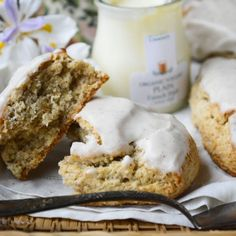 Banana Walnut Scones with Browned Butter Icing