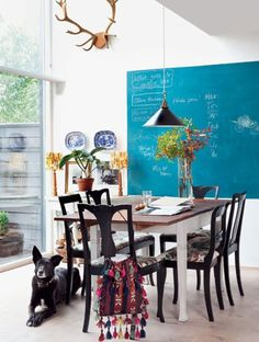 like this chalkboard for the kitchen/eat in area....