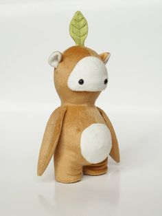 Twig the Seedling. Cute handmade plush monster. by CreepyandCute, €45.00