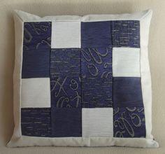 """Cuscino decorativo patchwork 55x55 cm (22""""x22""""), PEZZO UNICO velluto alcantara tela. Con zip nascosta. - Pillow patchwork 22""""x22"""" unique. di RITALYstyle su Etsy"""