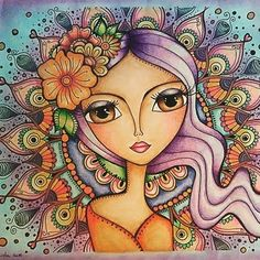 69 New Ideas for drawing ideas mermaid faces Art And Illustration, Naive Art, Whimsical Art, Mandala Art, Doodle Art, Cute Art, Folk Art, Art Pictures, Art Drawings