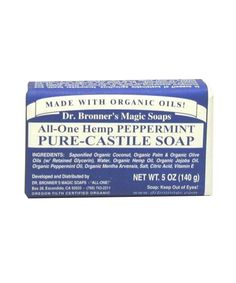 """Dr. Bronner's Bar Soap in Peppermint, $4.69 @Target or @WholeFoods. """"Nothing makes me feel cleaner, awake, and ready to look the day's challenges in the eye than this tingly, organic goodie."""""""