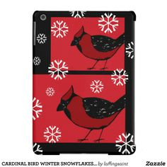 CARDINAL BIRD WINTER SNOWFLAKES iPad Air Case