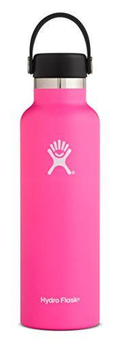 Hydro Flask 24 oz Double Wall Vacuum Insulated Stainless Steel Leak Proof Sports Water Bottle, Standard Mouth with BPA Free Flex Cap, Flamingo. For product & price info go to:  https://all4hiking.com/products/hydro-flask-24-oz-double-wall-vacuum-insulated-stainless-steel-leak-proof-sports-water-bottle-standard-mouth-with-bpa-free-flex-cap-flamingo/
