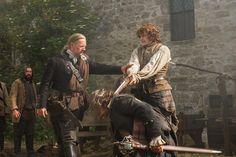Sam Heughan as Jamie Fraser in Season One of Outlander on Starz Watch Outlander, Outlander Season 1, Diana Gabaldon Outlander, Outlander Casting, Outlander Tv Series, Starz Series, Claire Fraser, Jamie Fraser, Tartan