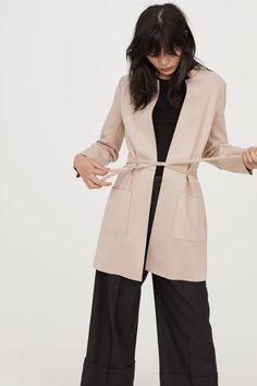 Mantel mit Bindegürtel | Hellbeige | DAMEN | H&M DE