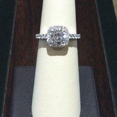Beautiful cushion cut diamond ring
