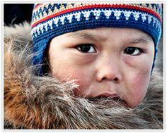 Inuit boy from Nunavut, Canada