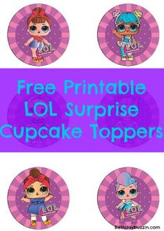 Surprise your guests with some delicious LOL Surprise themed cupcakes! Use our free printable LOL Surprise cupcake toppers to decorate your cupcakes. Baby Birthday, Birthday Party Themes, Surprise Birthday, Free Birthday, Birthday Ideas, Lol Doll Cake, Cupcake Toppers Free, Party Favor Tags, Party Invitations