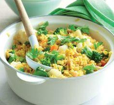 Spicy vege pilaf - High fibre, Low fat, Low sodium, Vegetarian