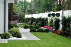 Tajemniczy Ogród - Stworzymy Państwu odrobinę raju na własnym kawałku ziemi. Backyard Garden Design, Garden Landscape Design, Back Gardens, Outdoor Gardens, Side Yard Landscaping, Landscaping Ideas, Garden Deco, Contemporary Garden, Garden Projects