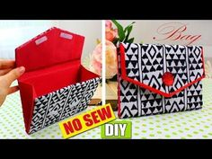 DIY No sew purse clutch tutorial so easy to make. Diy Denim Wallet, Best Leather Wallet, Diy Wallet, Diy And Crafts Sewing, Crafts For Kids, Craft Gifts, Diy Gifts, Diy Clutch, Clutch Bag