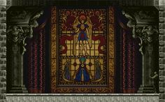 Stained glass from Castlevania: Symphony of the Night (Playstation, 1997).