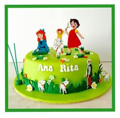 Risultati immagini per heidi theme cake Delicious Cake Recipes, Yummy Cakes, Princess Party, Little Princess, Heidi Und Peter, Cute Birthday Cakes, Torte Cake, Cooking With Kids, Themed Cakes