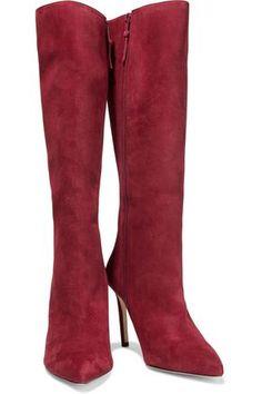 ALEXANDRE BIRMAN ALEXANDRE BIRMAN WOMAN HIGH HEEL BOOTS CRIMSON. #alexandrebirman #shoes High Heel Boots, Knee Boots, Heeled Boots, Designer High Heels, Designer Shoes, Victoria Beckham News, Stylish Sunglasses, Alexandre Birman, Popular Dresses