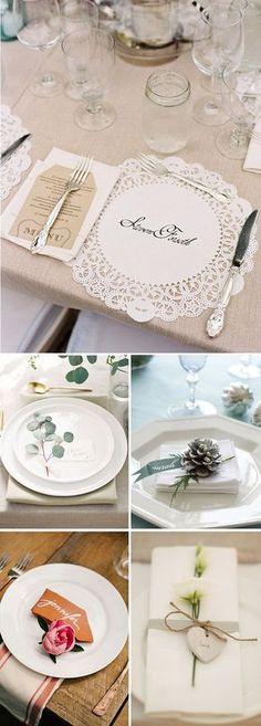 Ideas para decorar los platos de los invitados en las bodas Wedding Favours, Diy Wedding, Wedding Events, Dream Wedding, Wedding Day, Weddings, Deco Champetre, Wedding Place Settings, Wedding Decorations