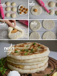 Velibah Bazlama (Patatesli) Camembert Cheese, Tart, Cereal, Brunch, Food And Drink, Pizza, Cooking, Breakfast, Recipes