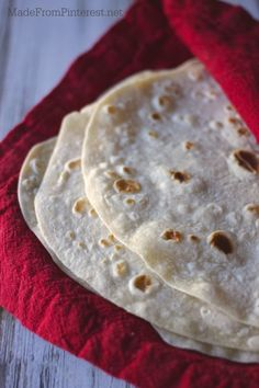 Homemade Tortillas - These taste great because they are made with lard. When you taste them, you will get over it. Nothing compares!
