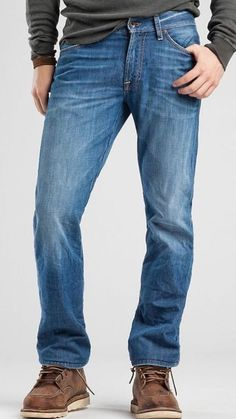 Lucky Brand 455 Relaxed Boot Cut Men's Distressed Jeans Size 40 X 33 NWT $99 #LuckyBrand #BootCut