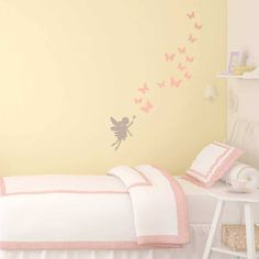 Our fairy and butterflies wall sticker set would look so gorgeous in a nursery or girl's bedroom. They're not exclusively for walls either - these flexible stickers can be applied to doors, windows or any other smooth flat surface too! Nursery Wall Stickers, Butterfly Wall Stickers, Girls Bedroom, Bedroom Decor, Bedroom Ideas, Height Chart, Pretty Room, Internal Doors, Transfer Paper