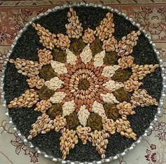 تزیین آجیل عید عروس ها،تزیین آجیل عید برای عروس Arti Thali Decoration, Ganapati Decoration, Food Decoration, Tray Decor, Fruit Decorations, Diwali Decorations, Wedding Decorations, Ramadan, Yalda Night