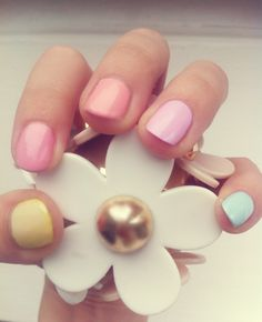 pastel nails at prettysquared.blogspot.com